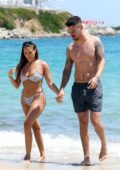 Chloe Goodman spotted in a bikini while enjoying the beach with boyfriend Grant Hall in Mykonos, Greece