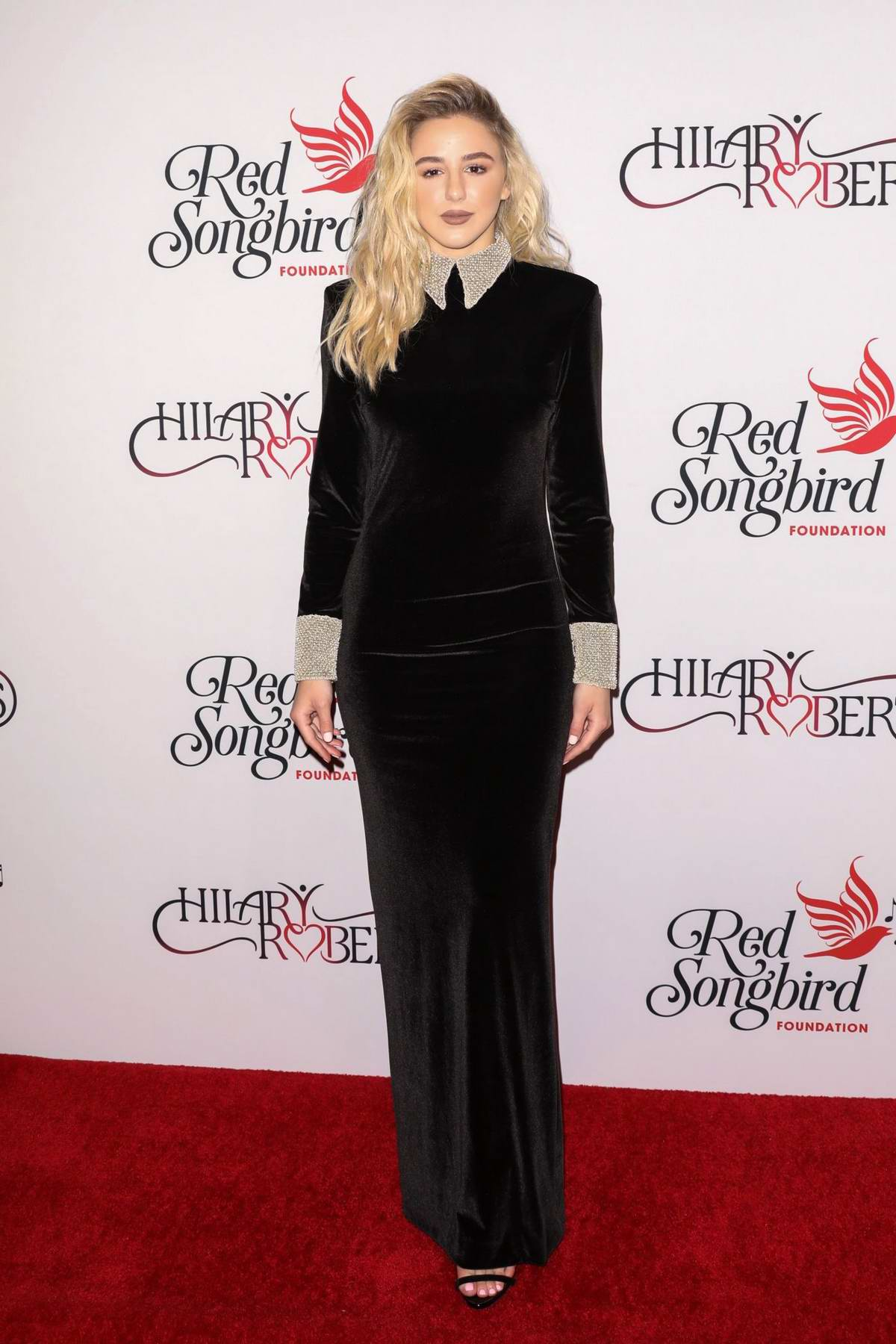 Chloe Lukasiak attends Hilary Roberts' birthday celebration and the Red Songbird Foundation launch party in Beverly Hills, Los Angeles