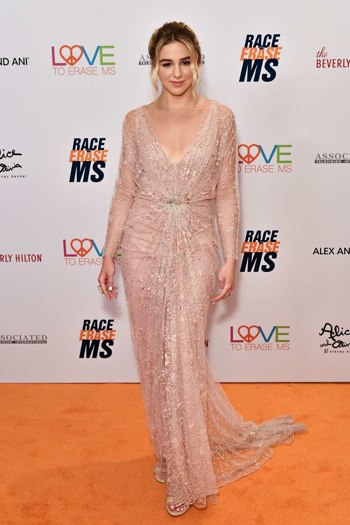 Chloe Lukasiak attends the 26th Annual Race to Erase MS GALA held at the Beverly Hilton Hotel in Beverly Hills, Los Angeles