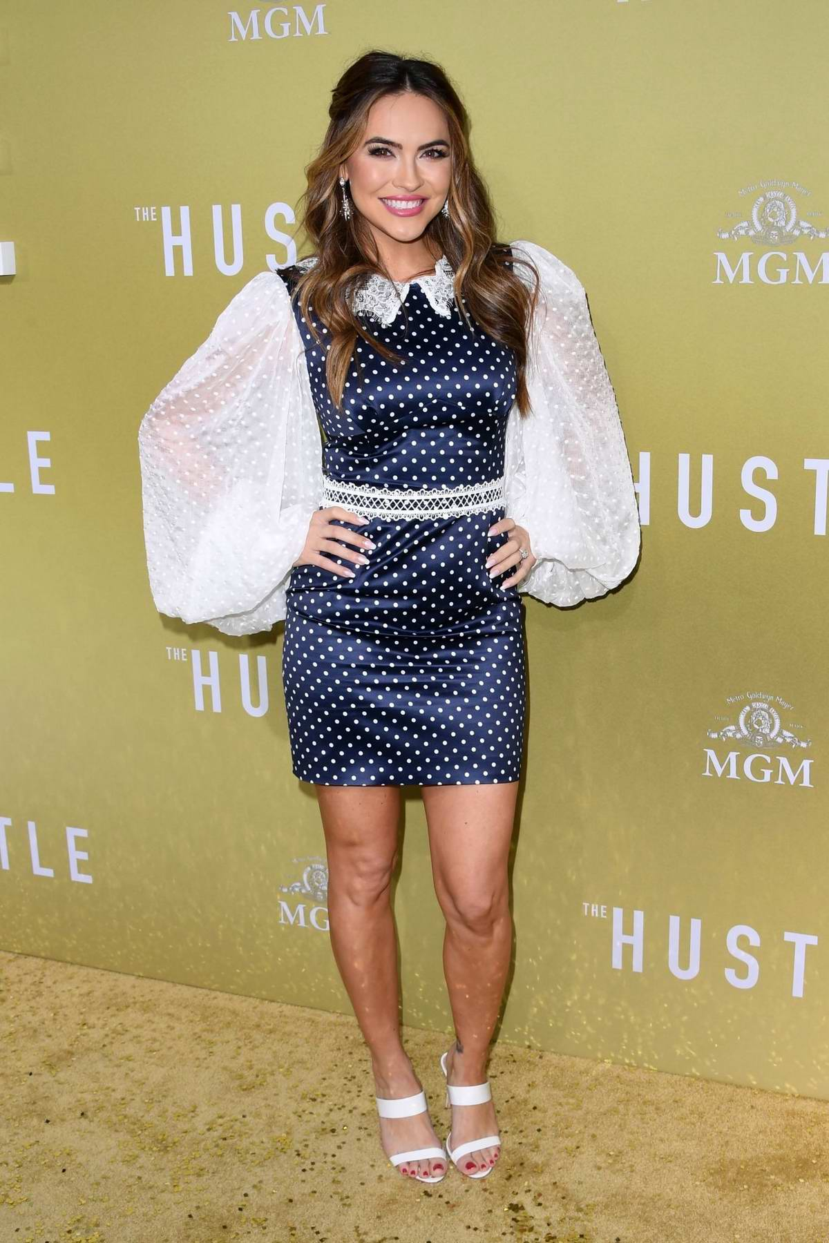 Chrishell Stause attends the premiere of 'The Hustle' at Arclight Cinerama Dome in Hollywood, California