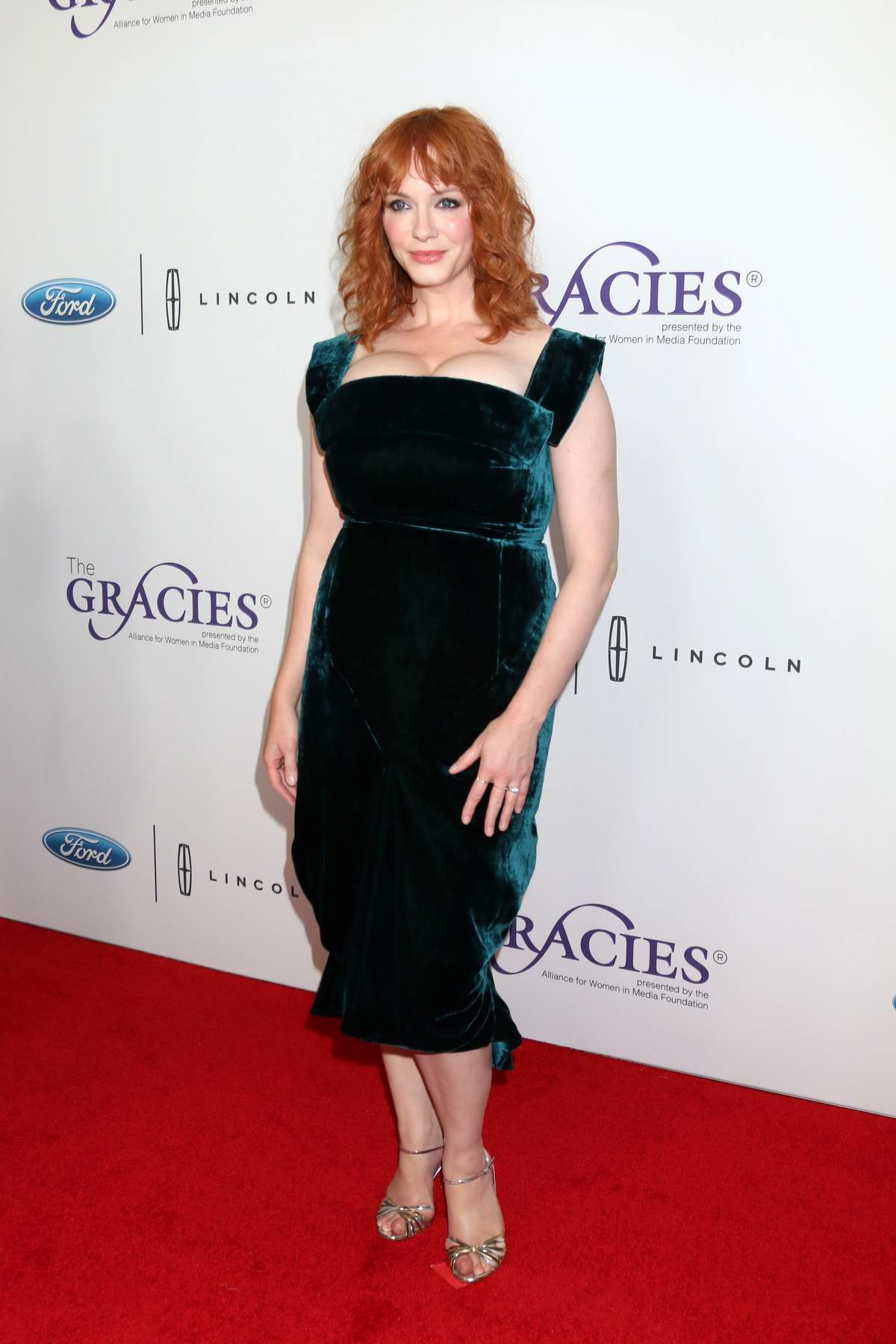 Christina Hendricks attends the 44th Annual Gracie Awards at Beverly Wilshire in Los Angeles
