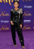 Christina Milian attends the World Premiere of Disney's 'Aladdin' at the El Capitan Theater in Hollywood, California