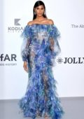 Cindy Bruna attends the 26th amfAR Gala held at Hotel du Cap-Eden-Roc during the 72nd annual Cannes Film Festival in Cannes, France