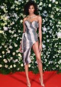 Cindy Bruna attends the Charles Finch Filmmakers Dinner during the 72nd Cannes Film Festival in Cannes, France