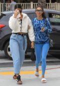 Cindy Kimberly and Chantel Jeffries steps out for lunch at Le Pain in West Hollywood, Los Angeles