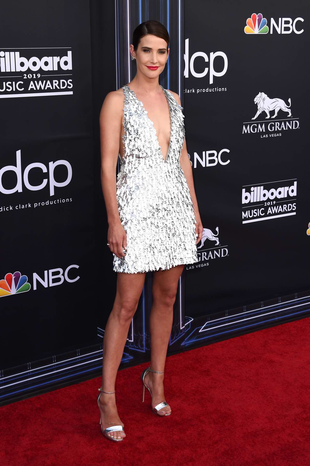Cobie Smulders attends the 2019 Billboard Music Awards at MGM Grand Garden Arena in Las Vegas, Nevada