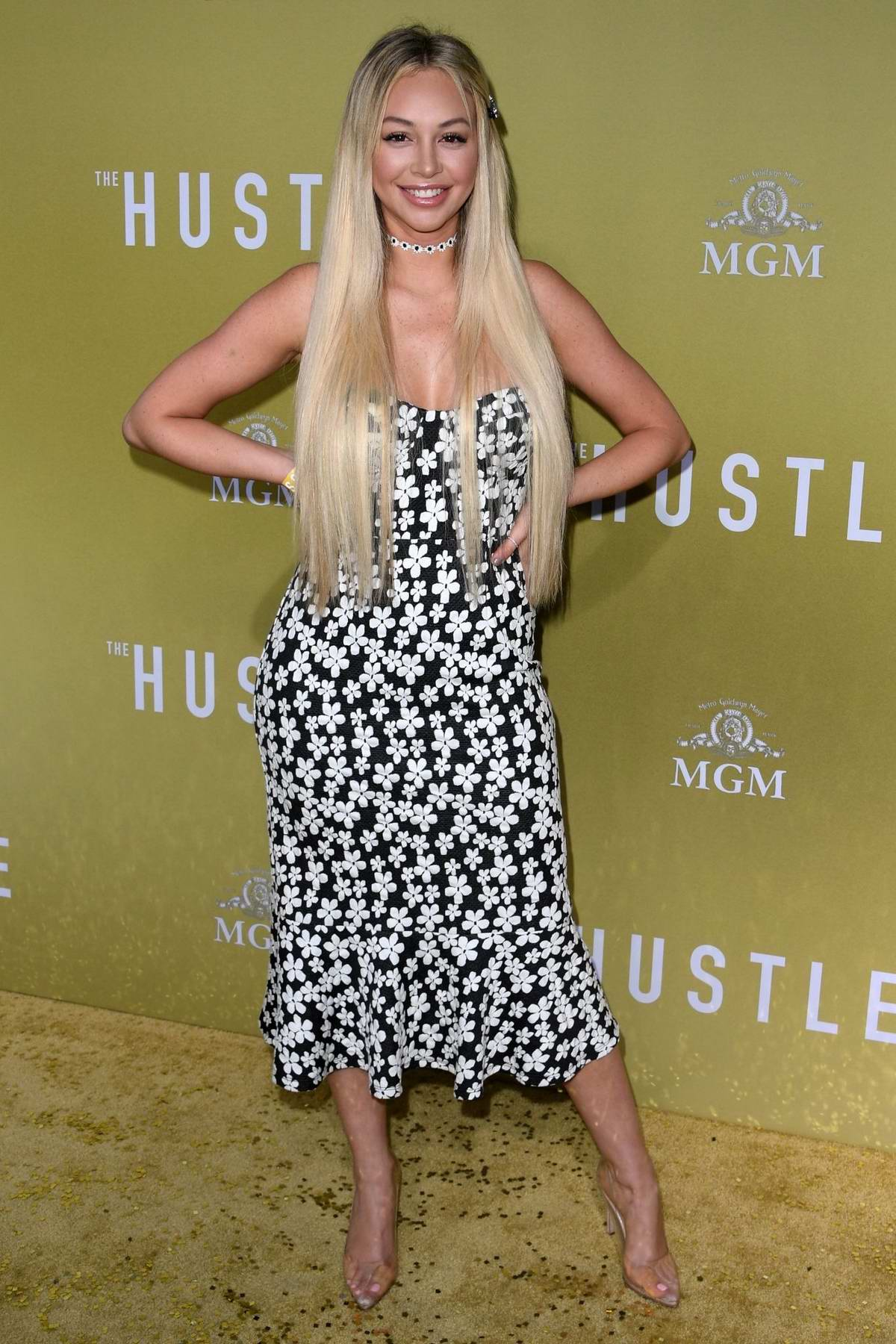 Corinne Olympios attends the premiere of 'The Hustle' at Arclight Cinerama Dome in Hollywood, California