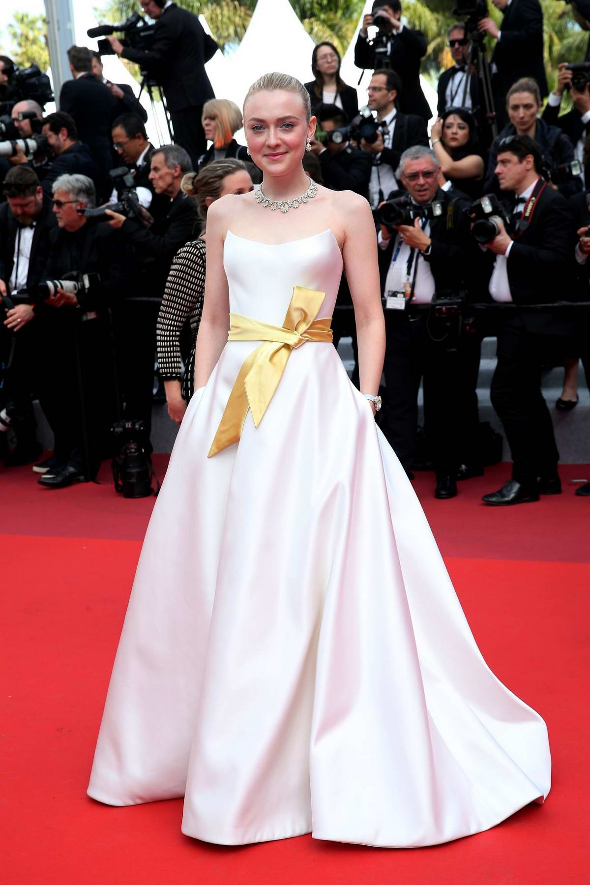 Dakota Fanning attends the screening of 'Once Upon A Time In Hollywood' during the 72nd annual Cannes Film Festival in Cannes, France