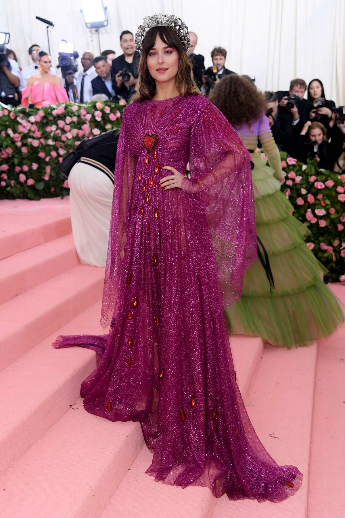 Dakota Johnson attends The 2019 Met Gala Celebrating Camp: Notes on Fashion in New York City