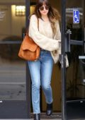 Dakota Johnson keeps it casual as she leaves a business meeting in Studio City, Los Angeles