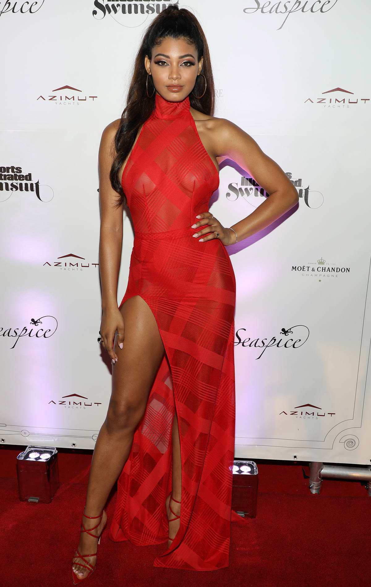 Danielle Herrington attends Sports Illustrated Swimsuit 2019 Issue Launch at Seaspice in Miami, Florida