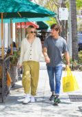 Delilah Hamlin hold hands with Eyal Booker while out in Beverly Hills, Los Angeles