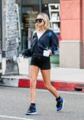 Delilah Hamlin rocks a hoodie and short shorts while out in Beverly Hills, Los Angeles