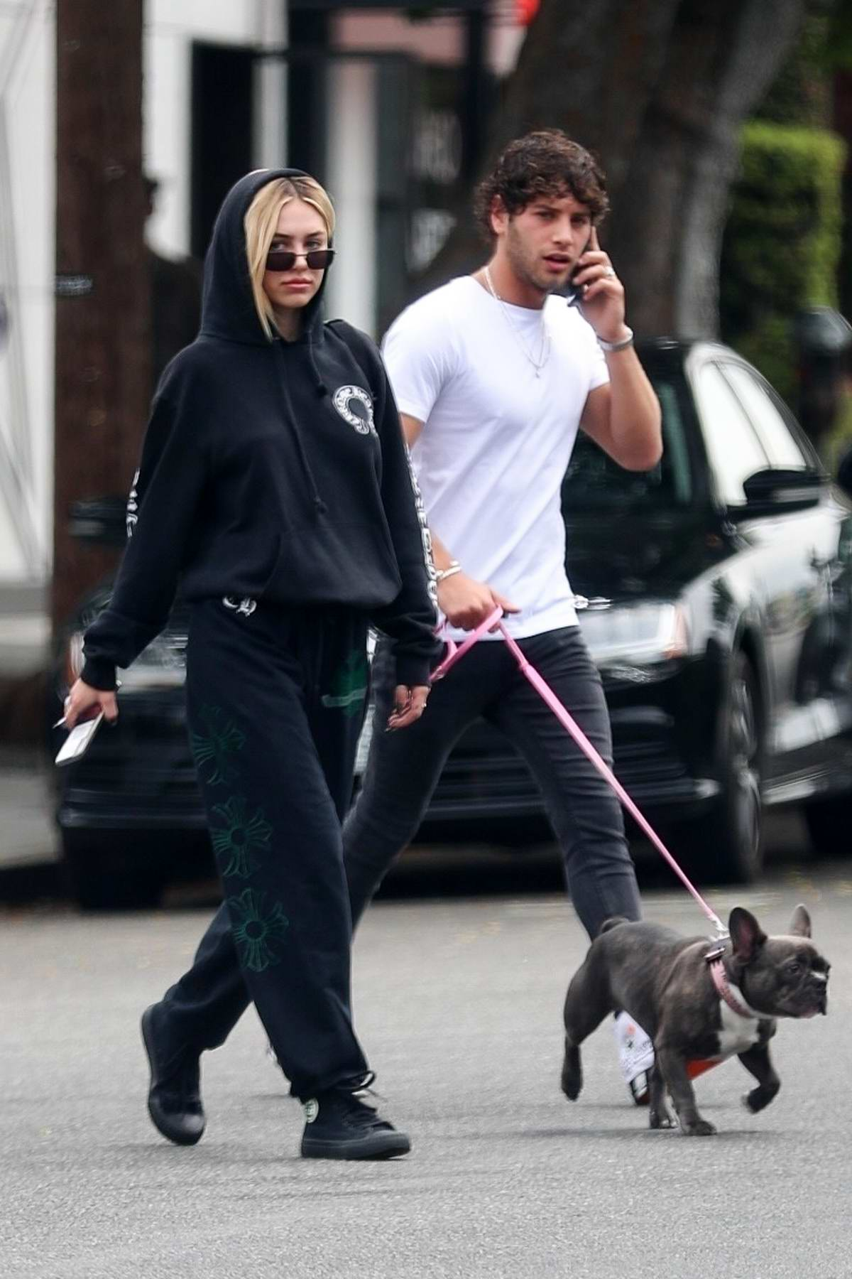 Delilah Hamlin steps out for coffee with Eyal Booker at Alfred's Coffee in West Hollywood, Los Angeles