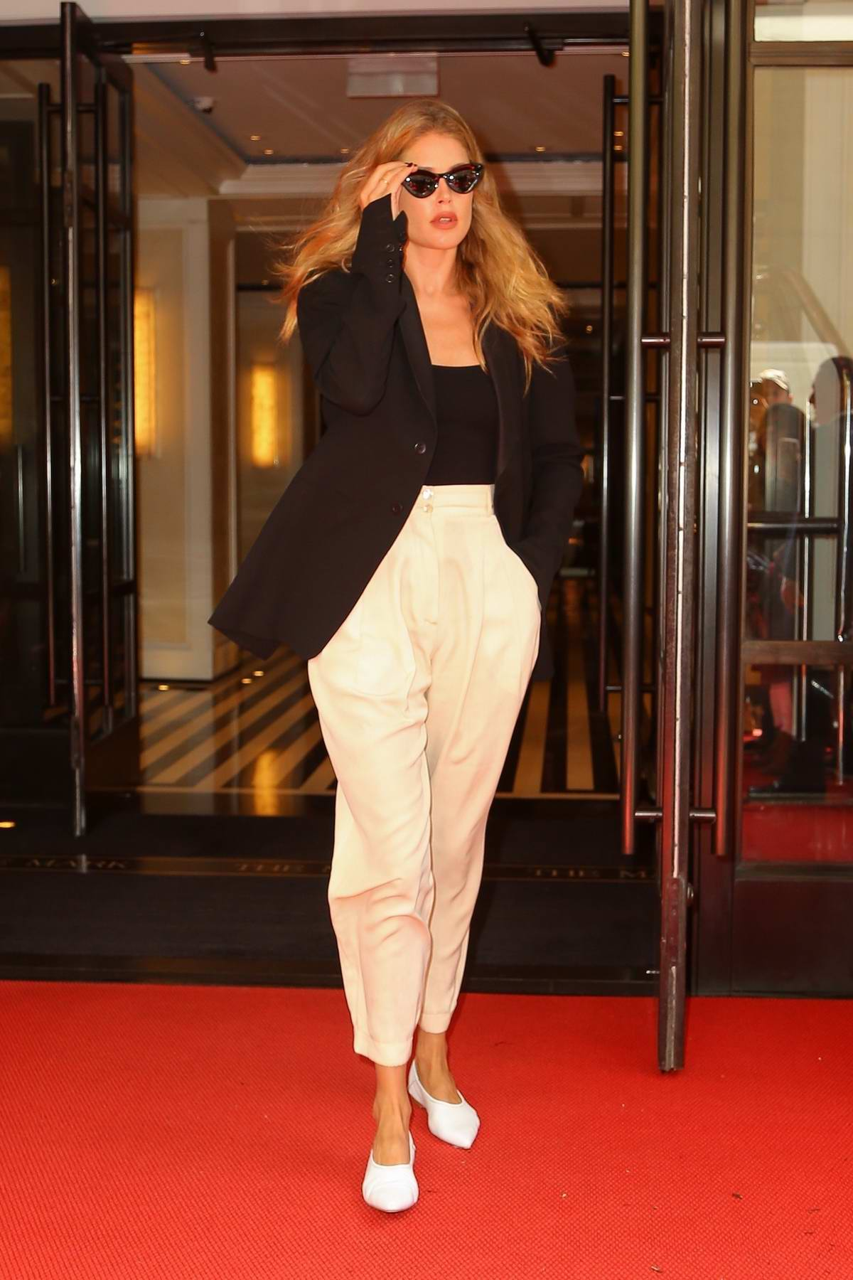 Doutzen Kroes keeps it stylish as she leaves The Mark in New York City