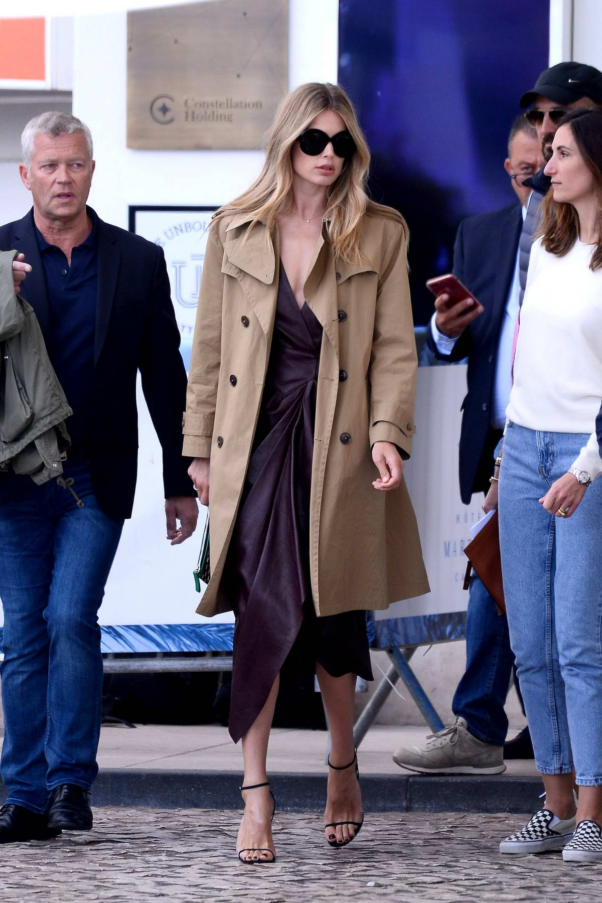 Doutzen Kroes spotted on a L'Oréal Paris photoshoot during 72nd Cannes Film Festival in Cannes, France