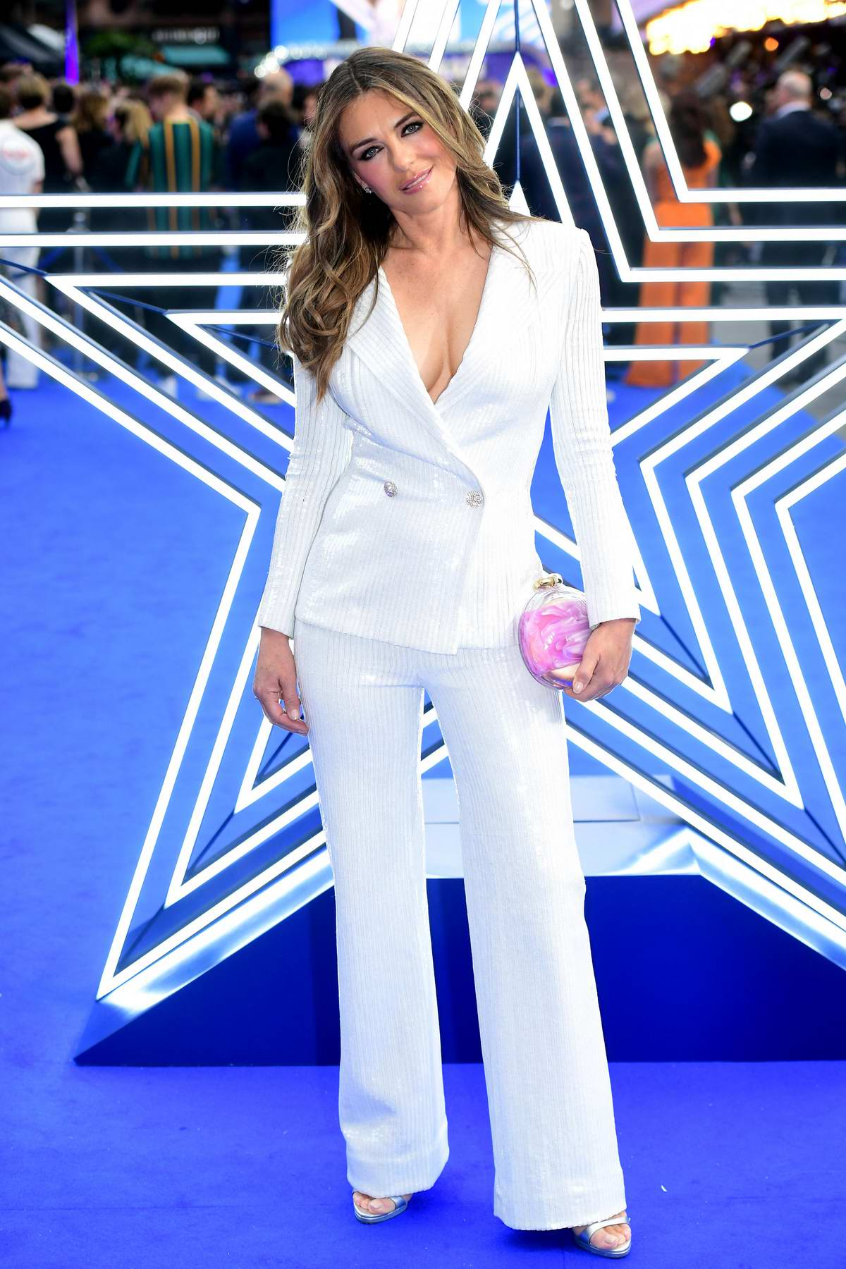 Elizabeth Hurley attends the UK Premiere of Rocketman at the Odeon Luxe in London, UK