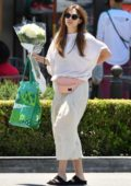 Elizabeth Olsen shows off her Boho-chic style while out for coffee with Robbie Arnett in Los Angeles