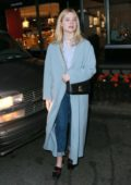 Elle Fanning and Max Minghella steps out for stroll in Manhattan, New York City