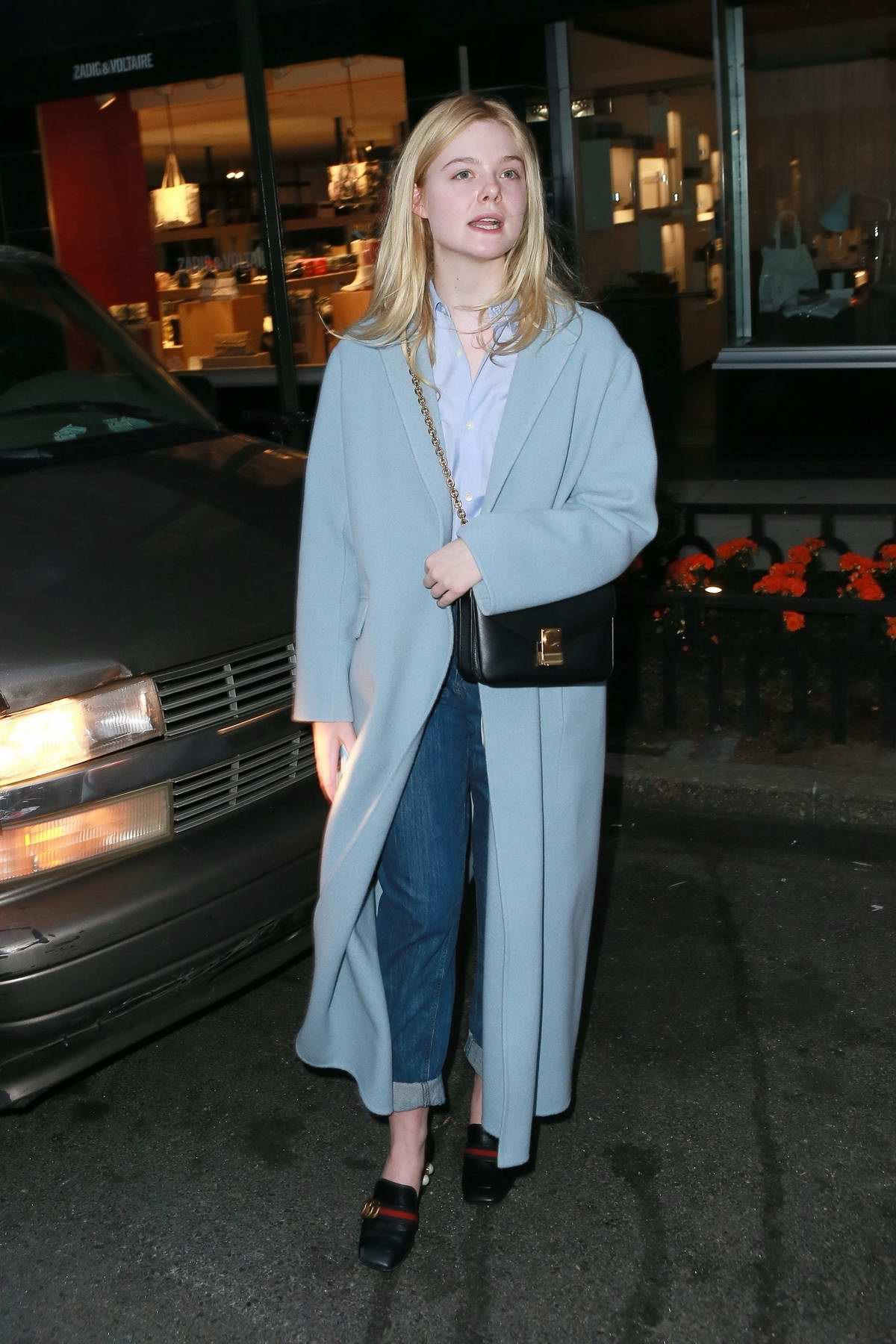 7deee9256ae03 Elle Fanning and Max Minghella steps out for stroll in Manhattan, New York  City