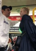 Elle Fanning and Max Minghella takes the subway and hold hands as they stroll back to their hotel after dinner in New York City
