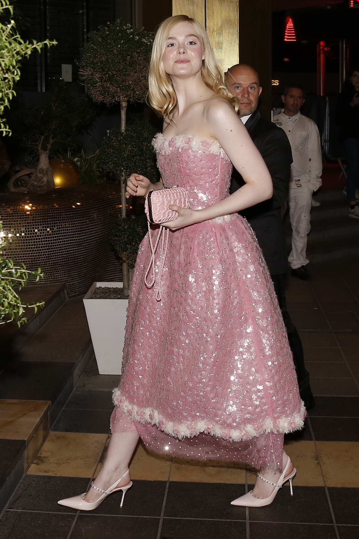 Elle Fanning attends the Chanel Party during the 72nd annual Cannes Film Festival in Cannes, France