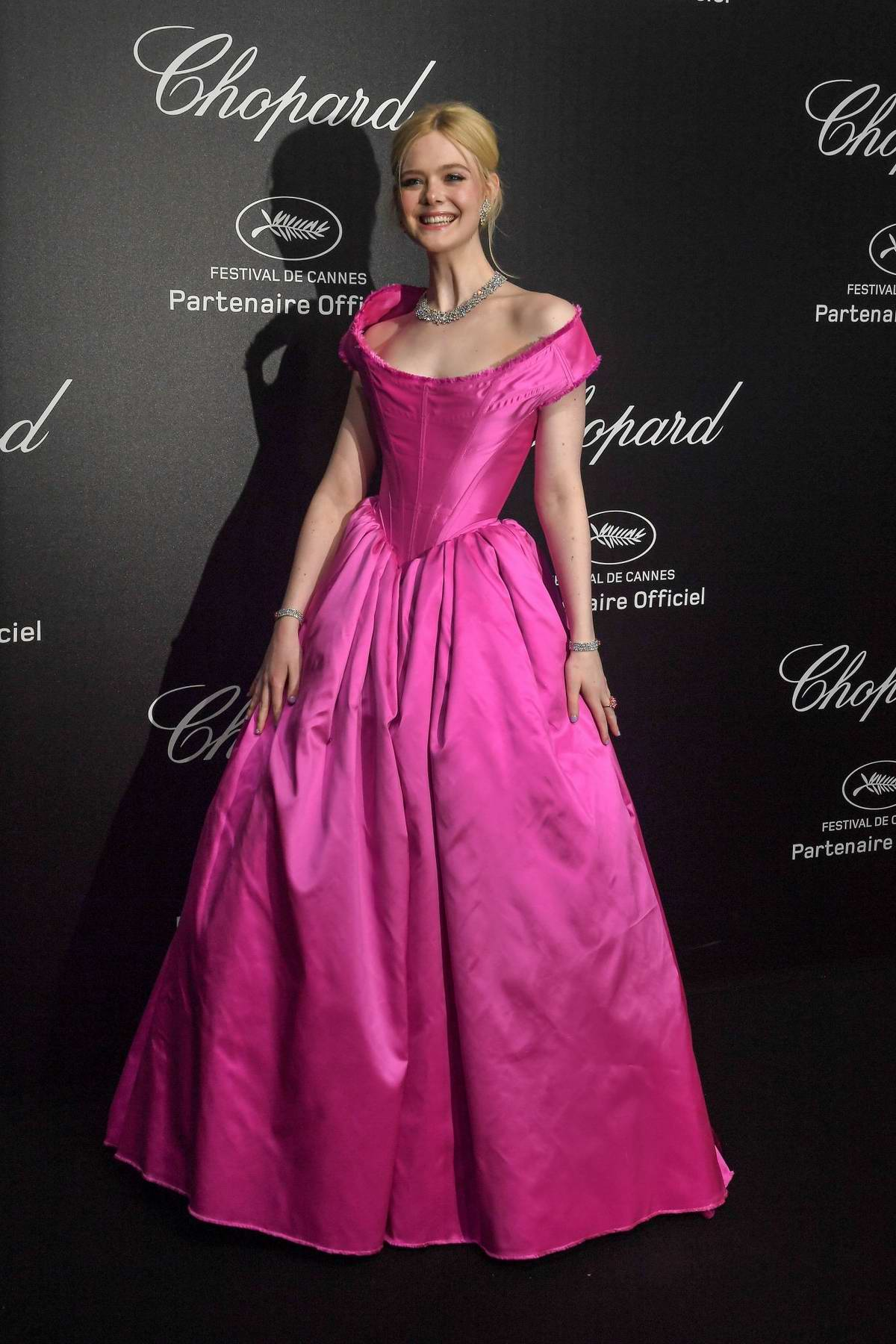 Elle Fanning attends the Chopard Love Night Party during the 72nd annual Cannes Film Festival in Cannes, France