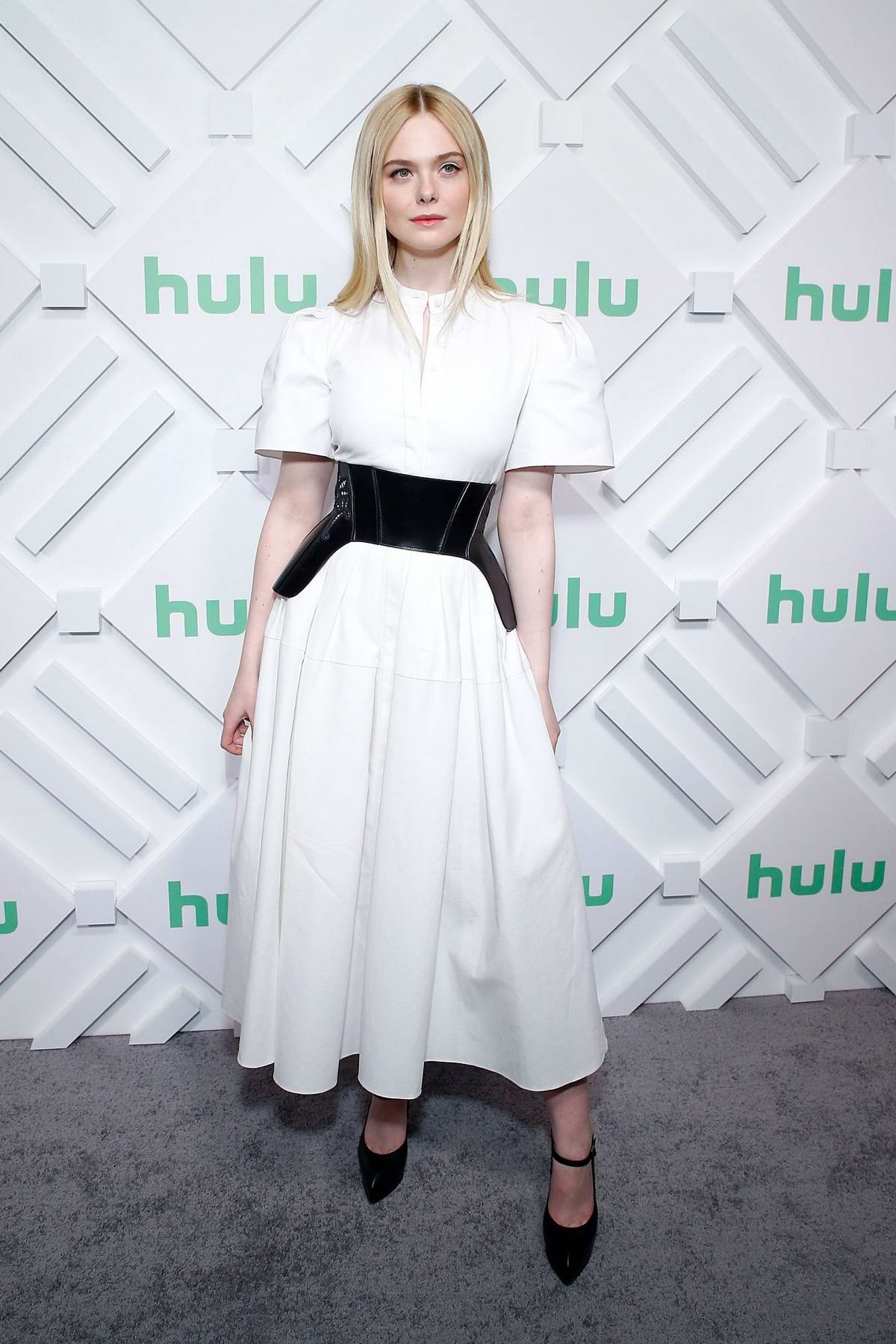 Elle Fanning attends the Hulu 2019 Upfront Presentation in New York City
