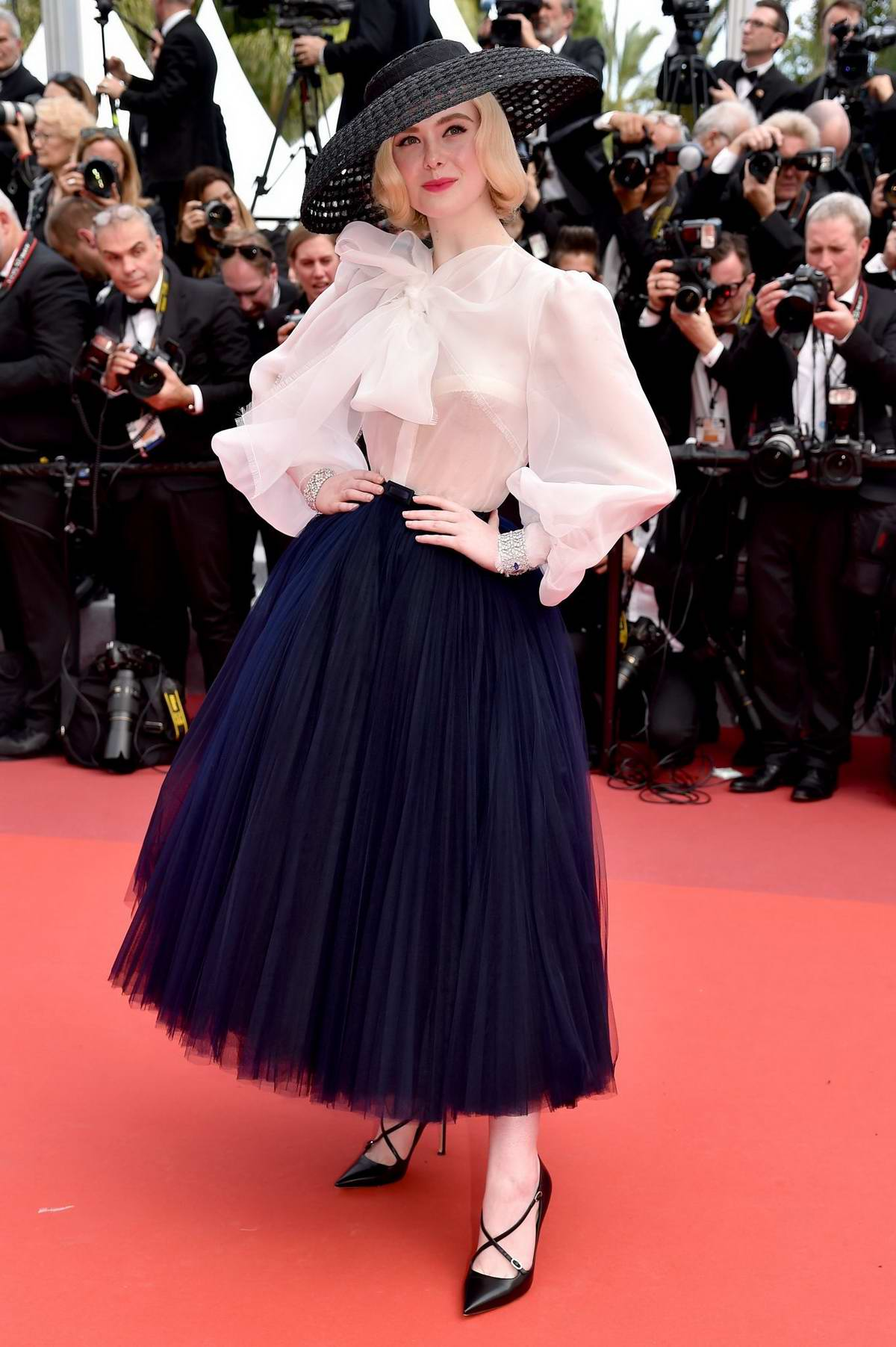 Elle Fanning attends the screening of 'Once Upon A Time In Hollywood' during the 72nd annual Cannes Film Festival in Cannes, France