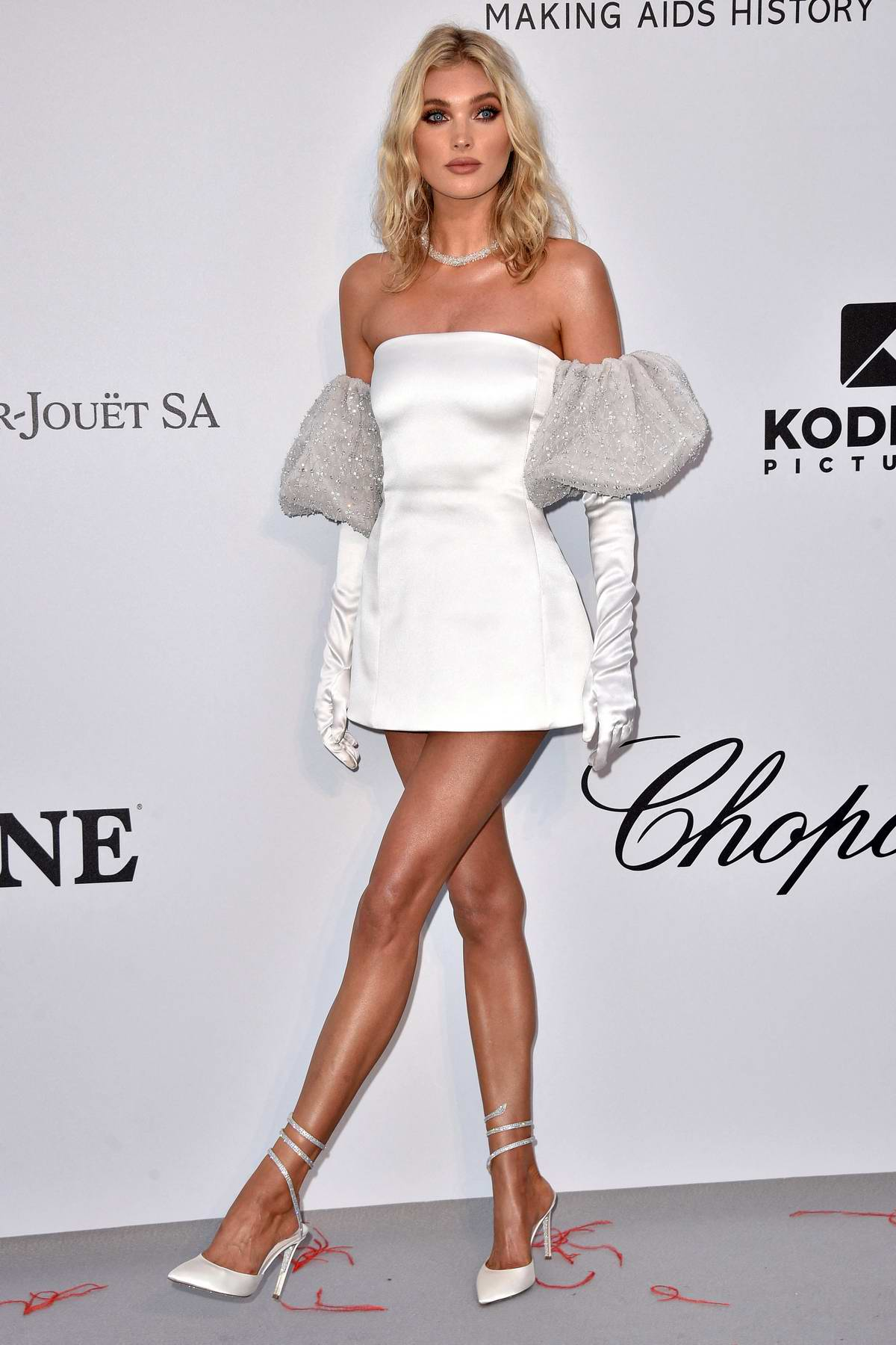 Elsa Hosk attends the 26th amfAR Gala held at Hotel du Cap-Eden-Roc during the 72nd annual Cannes Film Festival in Cannes, France
