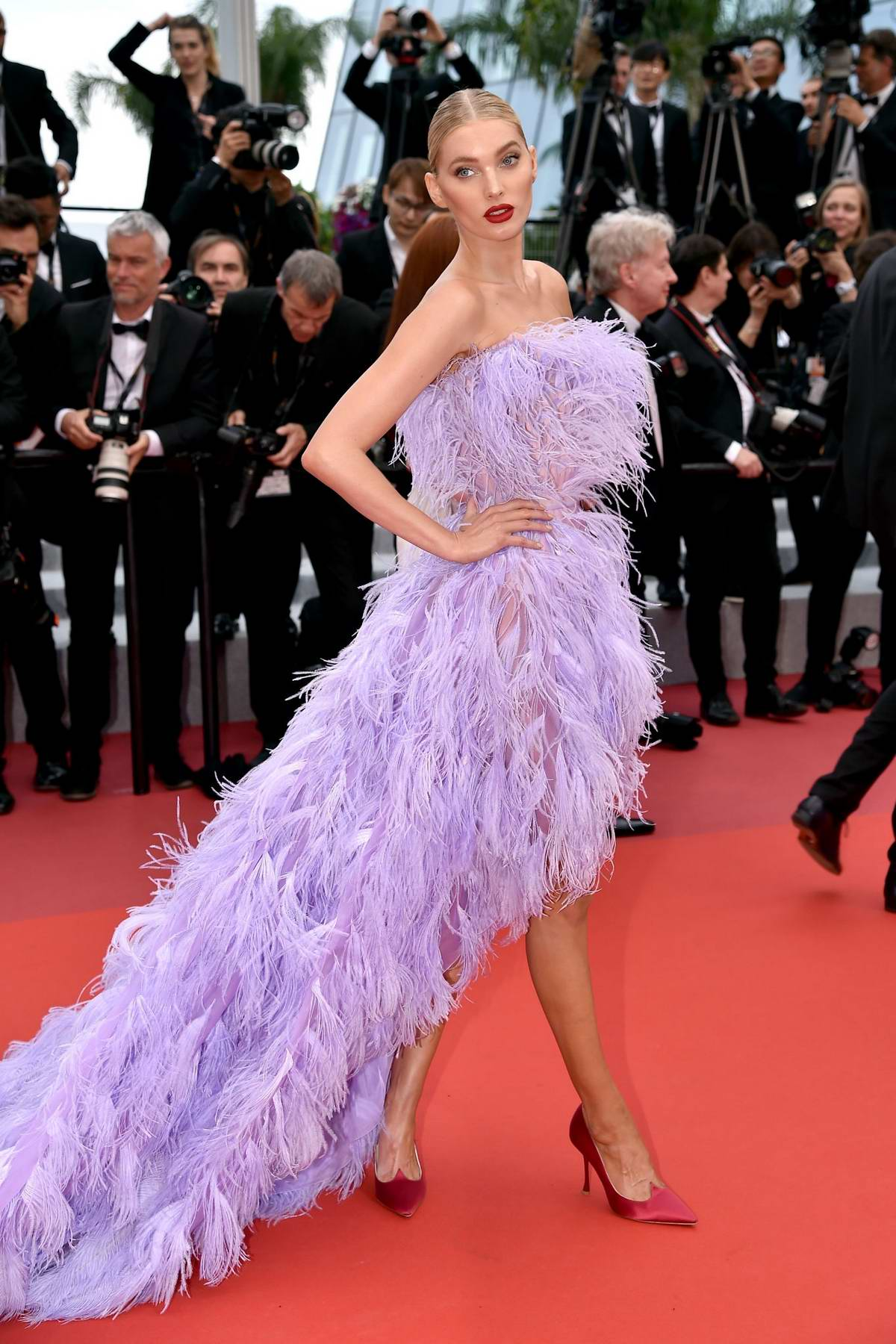 Elsa Hosk attends the screening of 'Sibyl' during the 72nd annual Cannes Film Festival In Cannes, France