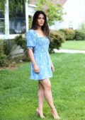 Emeraude Toubia visits Hallmark's 'Home & Family' in Universal City, California