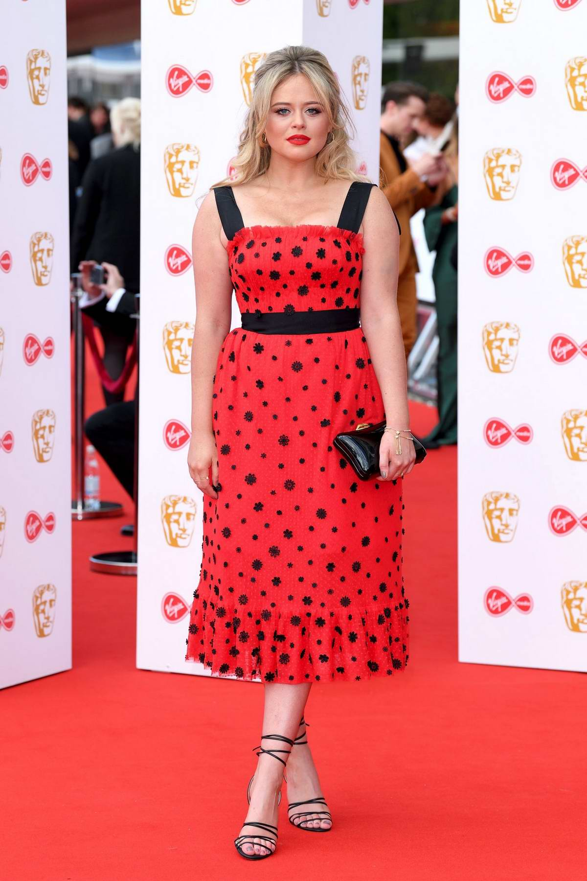 Emily Atack attends the 2019 British Academy Television Awards at Royal Festival Hall in London, UK