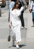 Emily Ratajkowski steps out in an all-white ensemble in Manhattan, New York City