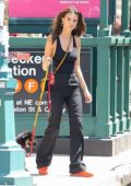 Emily Ratjakowski steps out for a stroll with her new puppy in New York City