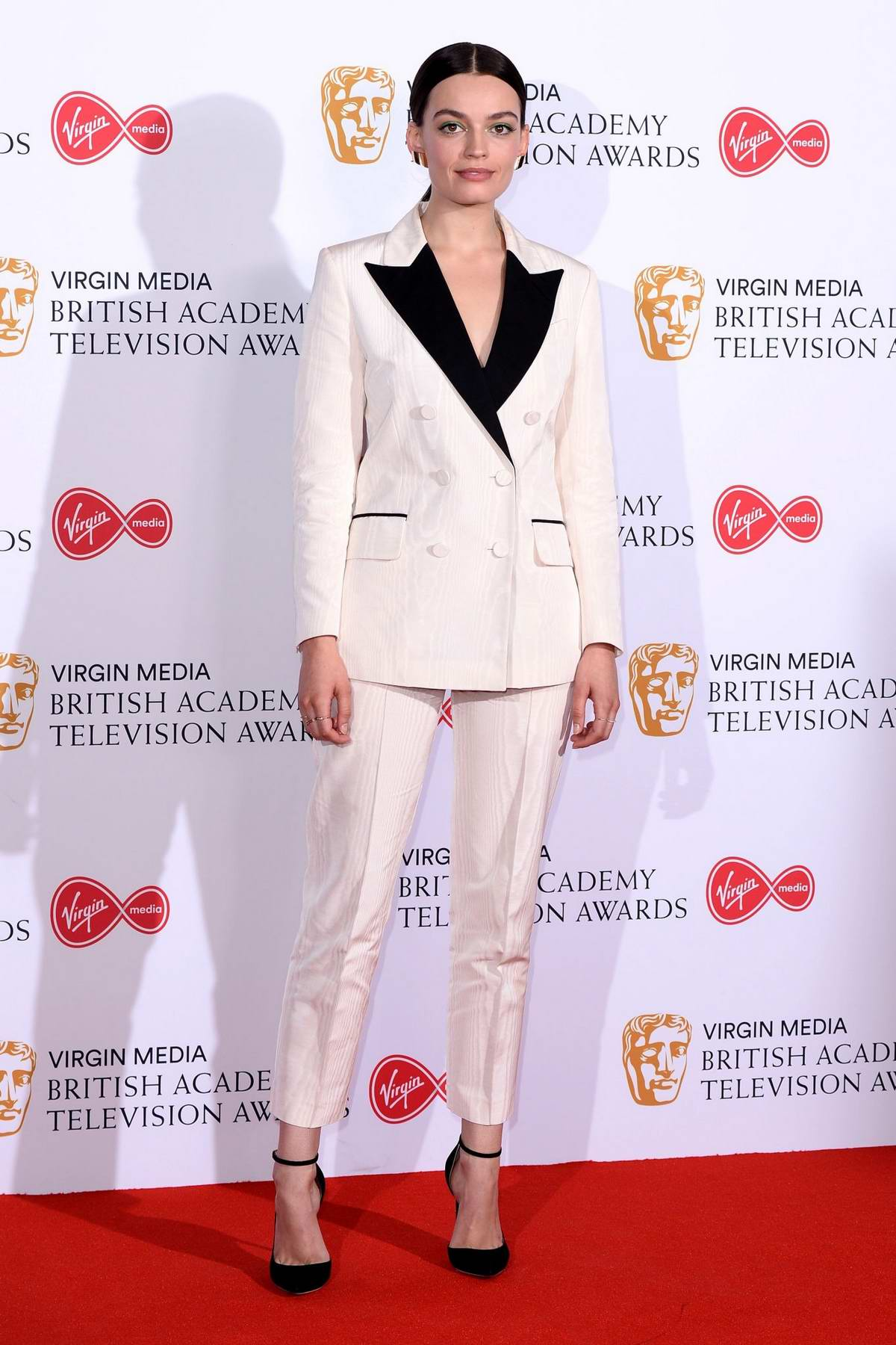 Emma Mackey attends the 2019 British Academy Television Awards at Royal Festival Hall in London, UK