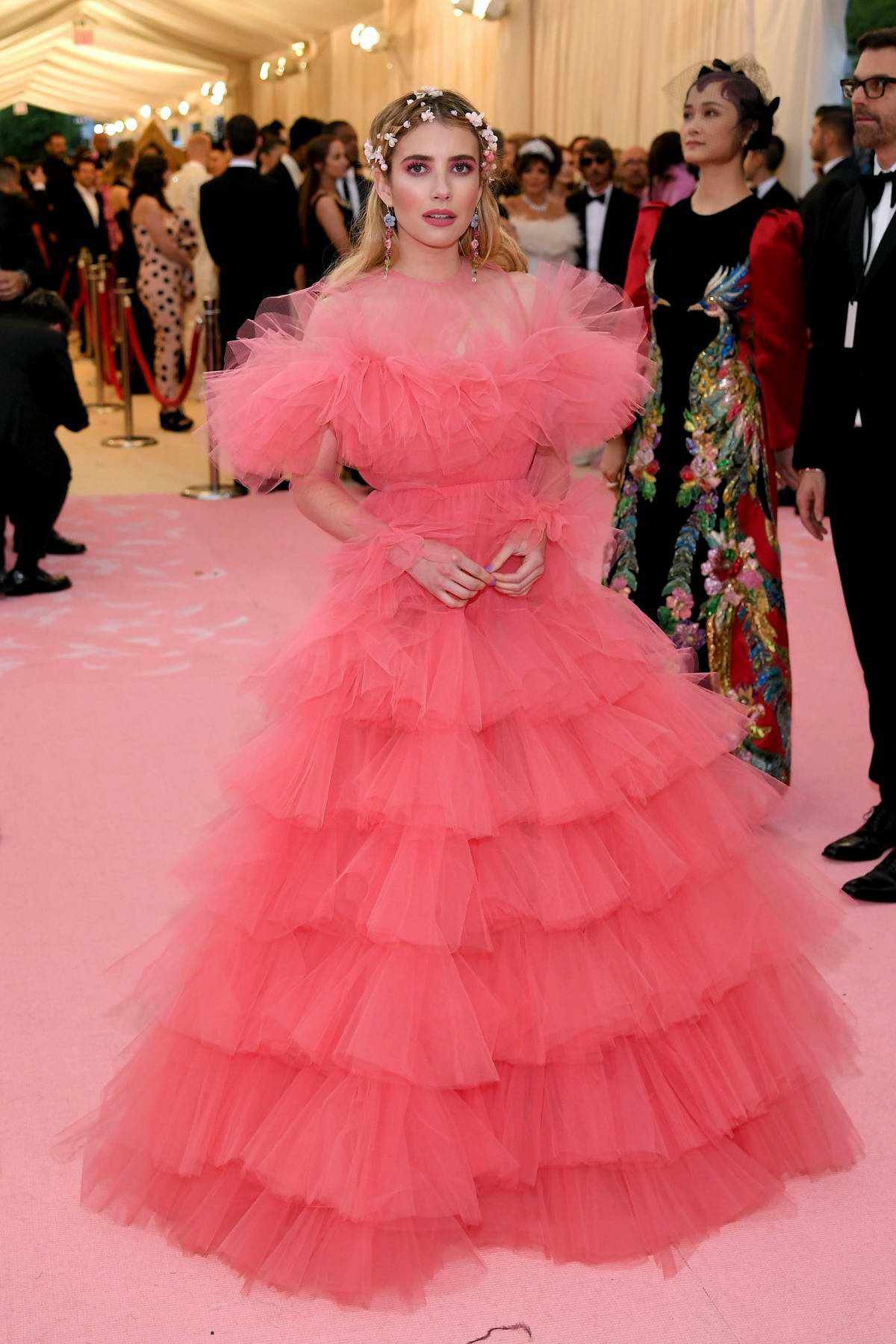 Emma Roberts attends The 2019 Met Gala Celebrating Camp: Notes on Fashion in New York City