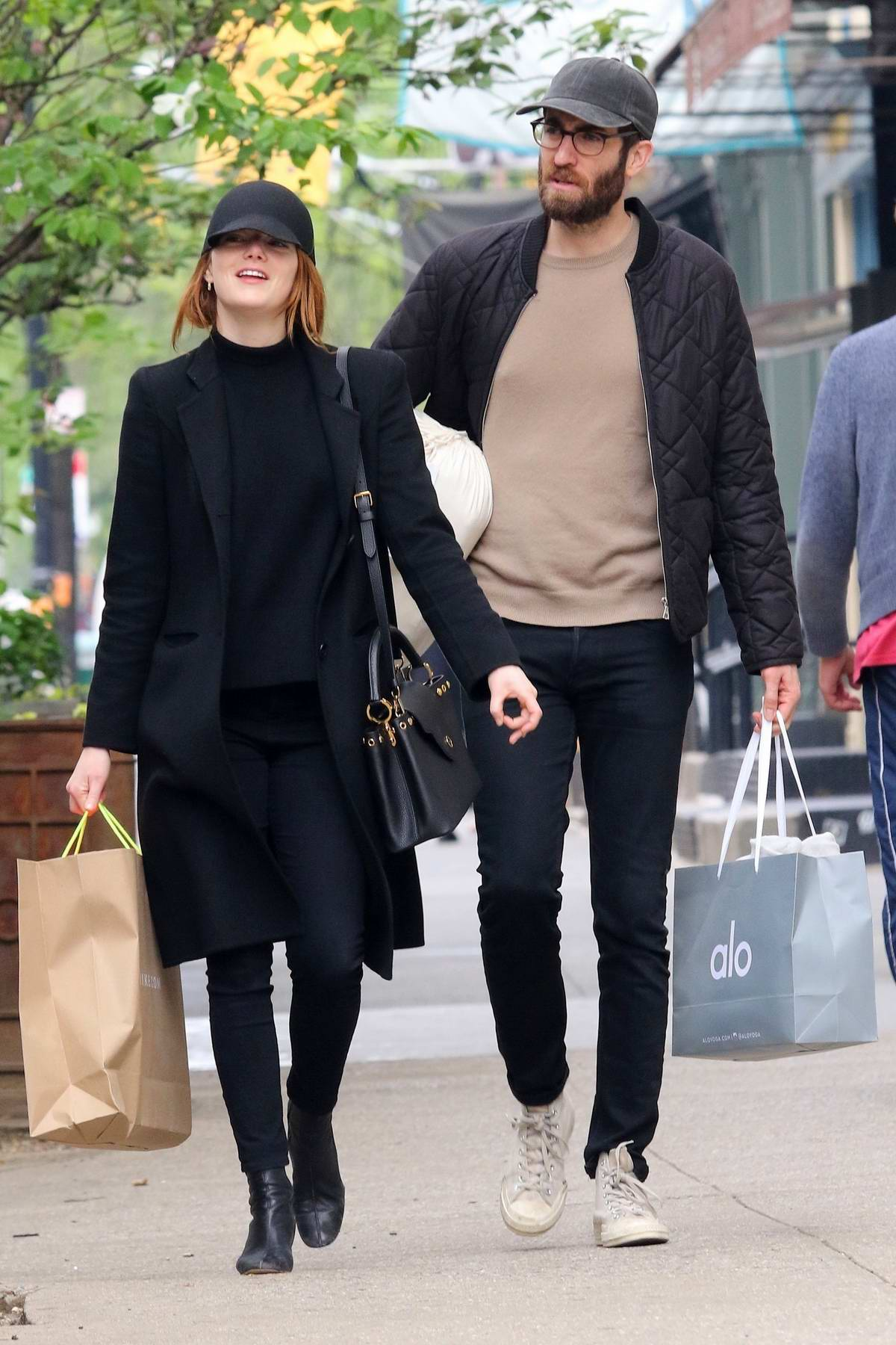 Emma Stone and Dave McCary steps out for some shopping in New York City