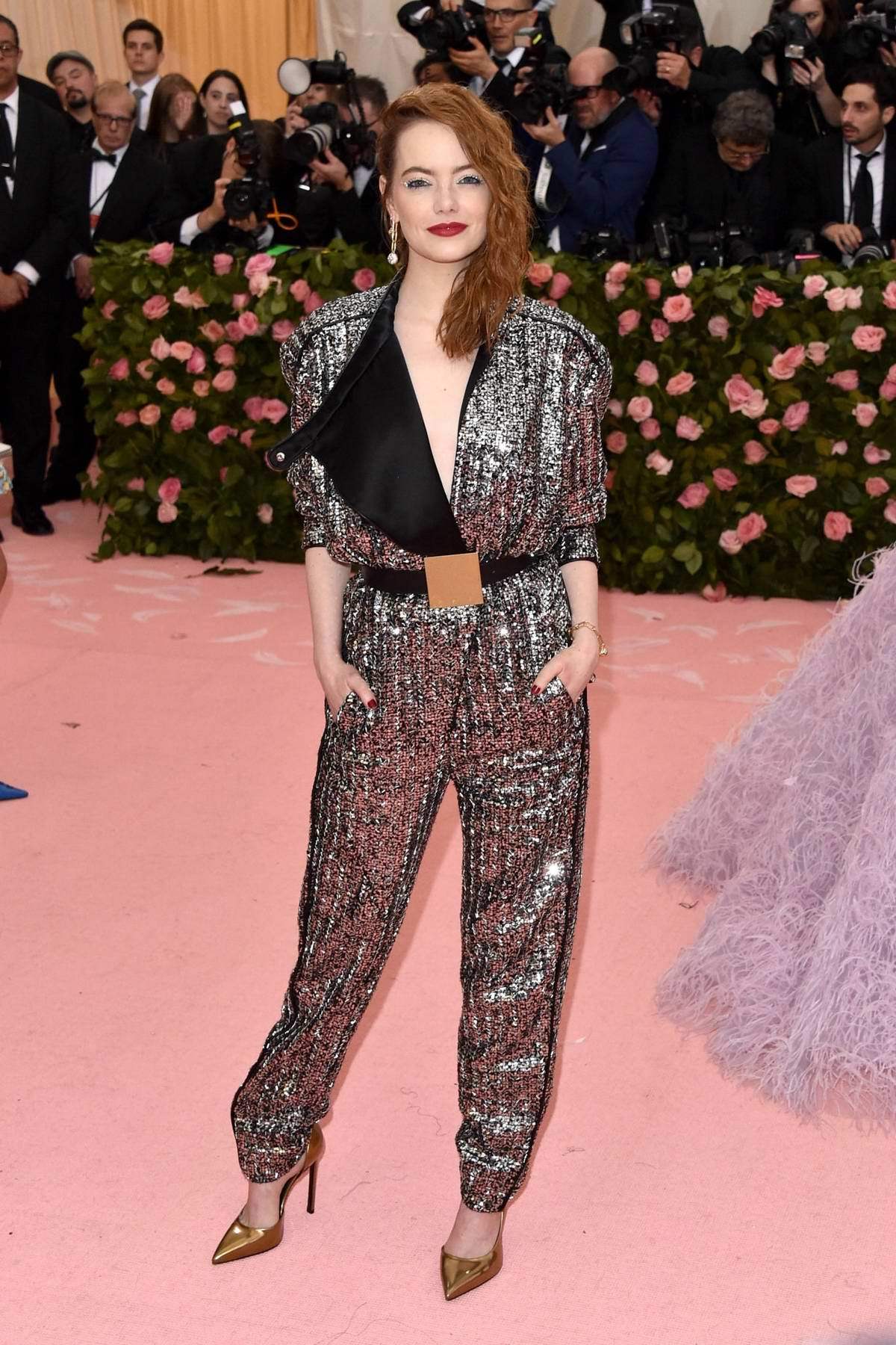Emma Stone attends The 2019 Met Gala Celebrating Camp: Notes on Fashion in New York City