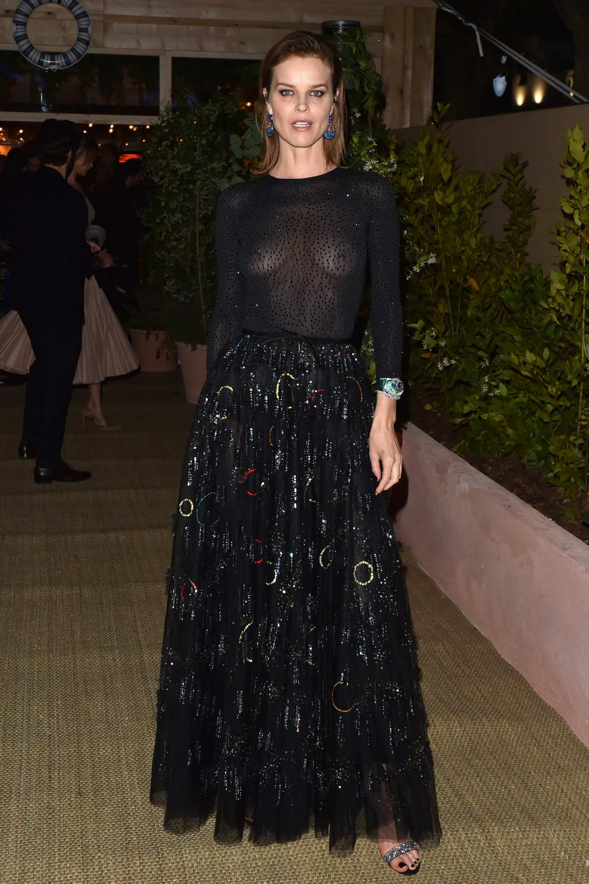 Eva Herzigova attends Dior and Vogue Paris dinner at Fred L'Ecailler in Cannes, France