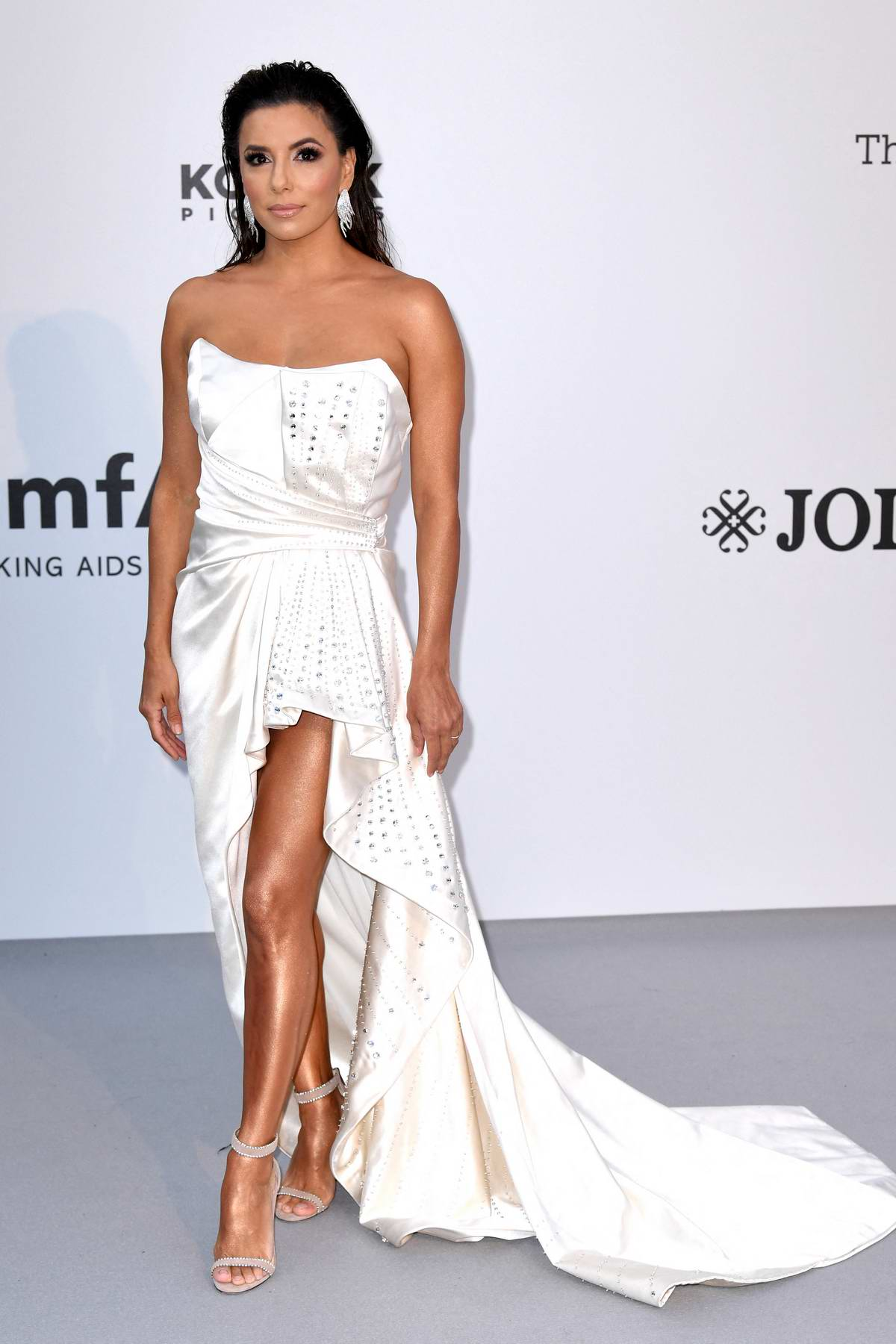 Eva Longoria attends the 26th amfAR Gala held at Hotel du Cap-Eden-Roc during the 72nd annual Cannes Film Festival in Cannes, France