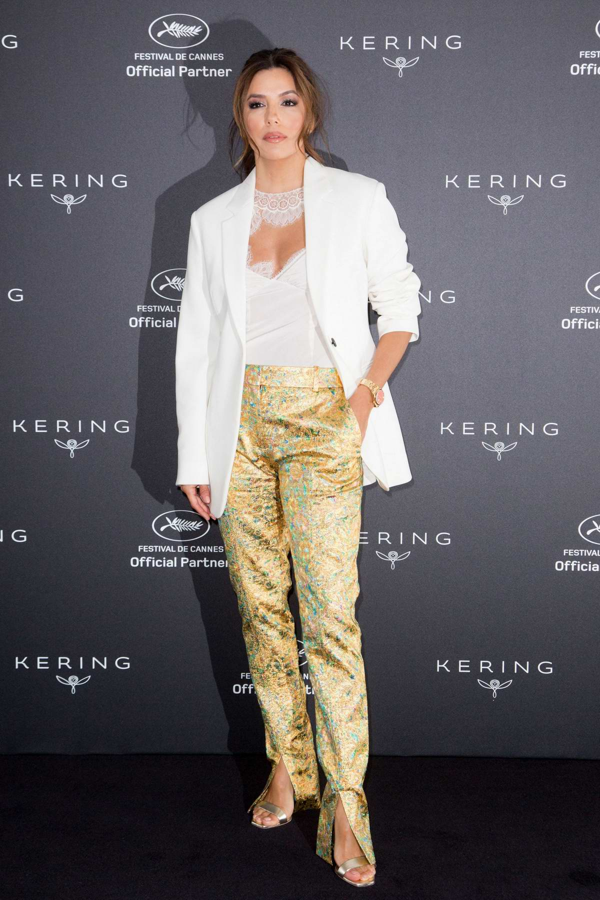 Eva Longoria attends the Kering Conference at Majestic Hotel during 72nd Cannes film festival in Cannes, France