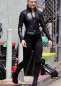 Evan Rachel Wood and Aaron Paul are spotted on the set of 'Westworld' in Los Angeles