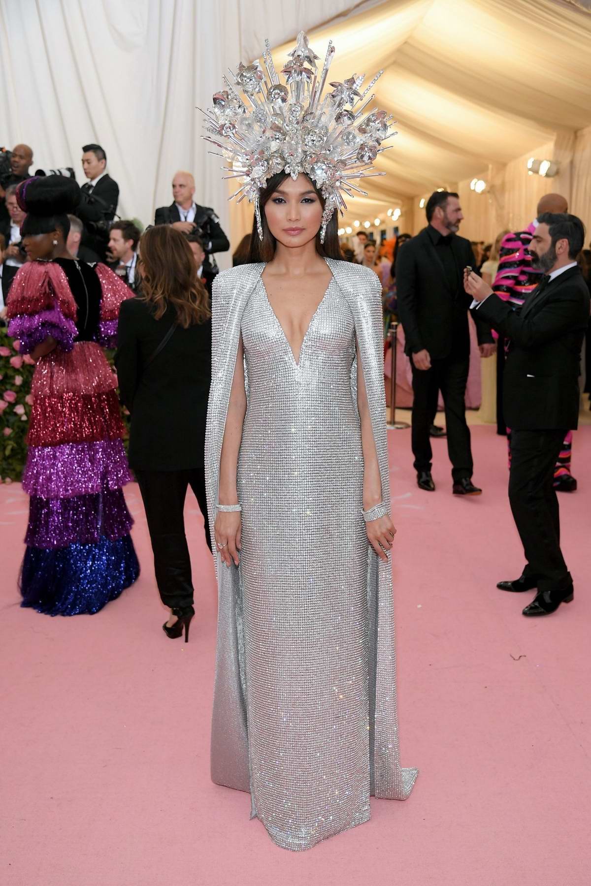 Gemma Chan attends The 2019 Met Gala Celebrating Camp: Notes on Fashion in New York City