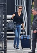 Gisele Bundchen and Tom Brady heads to catch a helicopter out of New York City