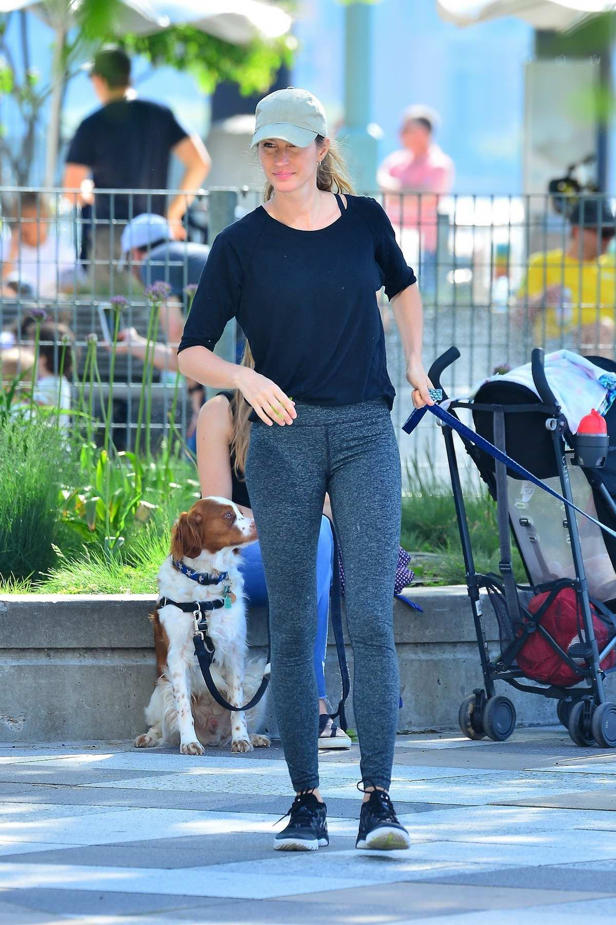 gisele bundchen seen chatting with friends while out for a ...