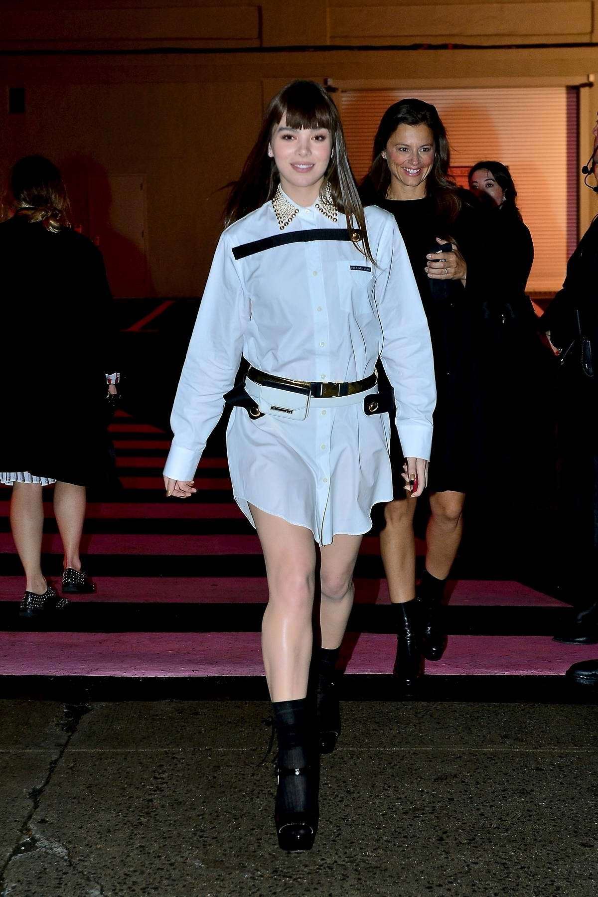 Hailee Steinfeld attends the Prada Resort 2020 fashion show at Prada Headquarters in New York City