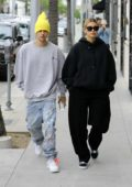 Hailey Baldwin and Justin Bieber spotted during a shopping trip in Beverly Hills, Los Angeles