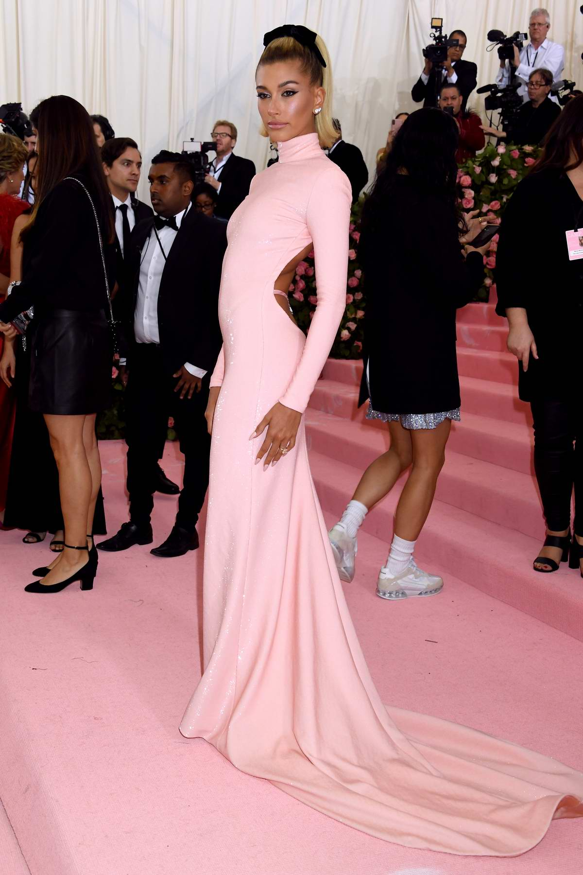 Hailey Baldwin attends The 2019 Met Gala Celebrating Camp: Notes on Fashion in New York City