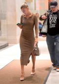 Hailey Baldwin seen leaving with her dad Stephen Baldwin after celebrating his birthday at Nobu in New York City